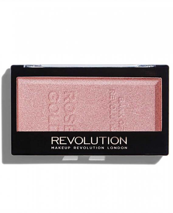 Iluminator compact Makeup Revolution, Ingot Highlighter - Rose Gold, 12g-big