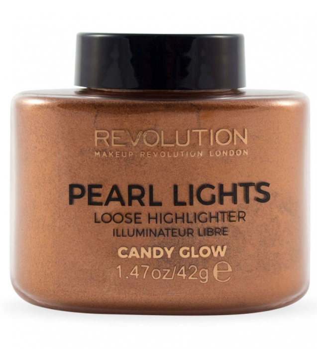 Iluminator Pulbere MAKEUP REVOLUTION Pearl Lights Loose Highlighter - Candy Glow, 25 g-big