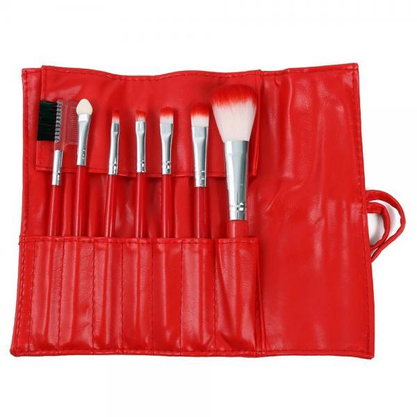 Set 7 Pensule Profesionale Luxury pentru Machiaj, Red Cherry-big