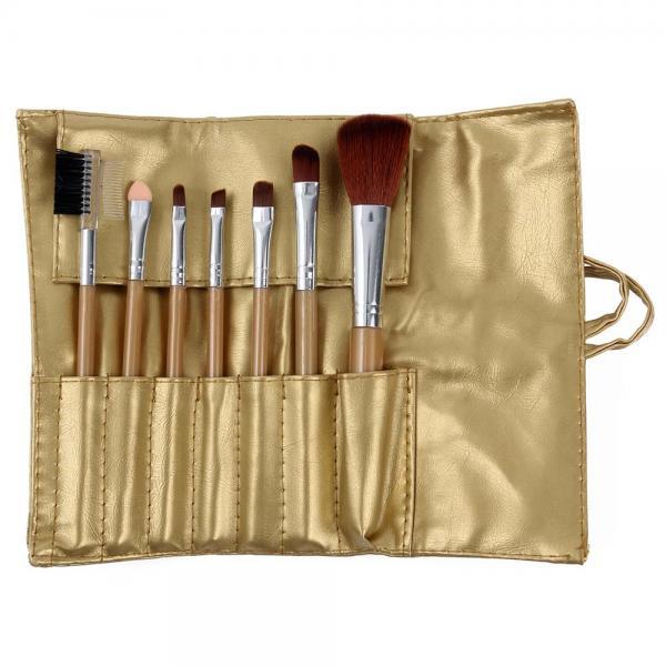 Set 7 Pensule Profesionale Luxury pentru Machiaj - Gold Flakes-big