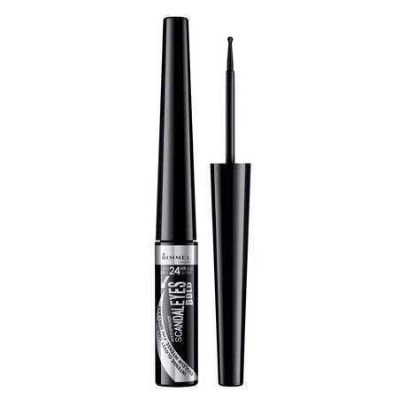 Tus de ochi lichid Rimmel London ScandalEyes Bold Waterproof, Black, 2.5 ml-big
