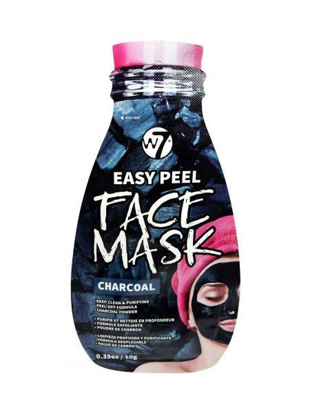 Masca pe Baza de Carbune pentru Indepartarea Impuritatilor W7 Easy Peel Face Mask, Charcoal, 10 g-big