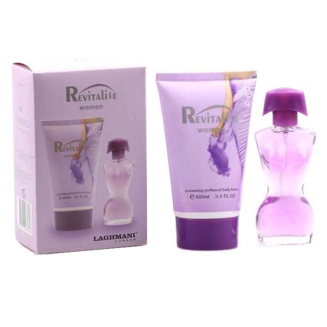 Set Cadou Revitalise Purple cu Apa de Parfum Fine Perfumery, 30 ml si Lotiune de Corp Moisturising Perfumed, 100 ml-big