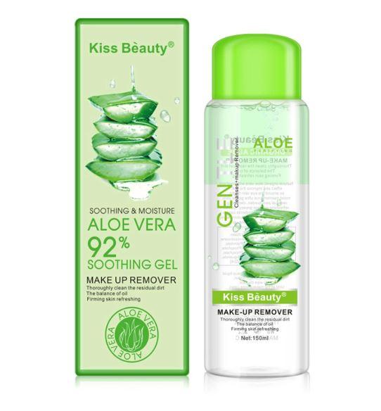 Demachiant Kiss Beauty cu extract natural de Aloe Vera, 92% Soothing Gel, 150 ml-big