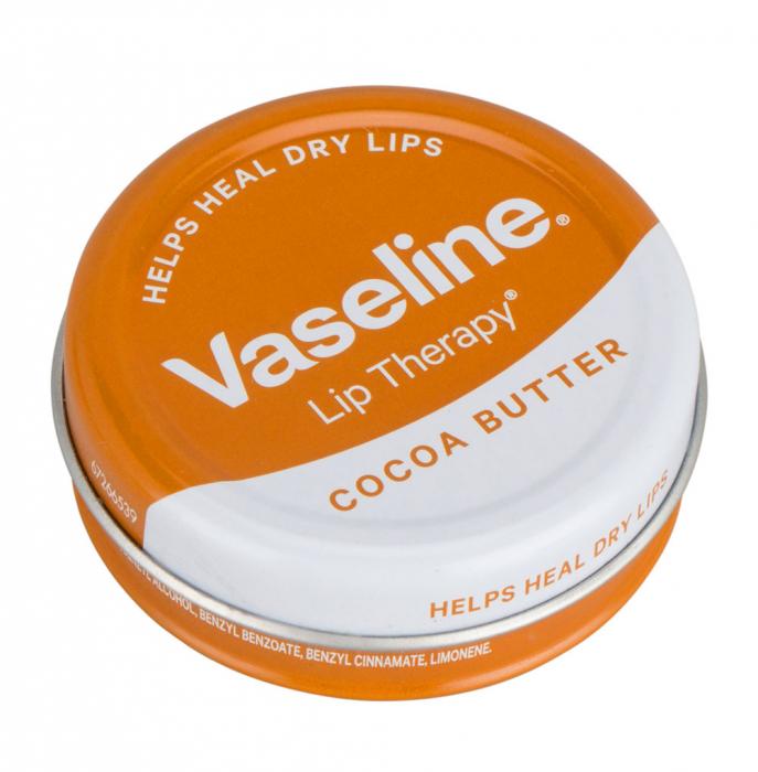 Balsam de buze Vaseline Lip Therapy cu Unt de Cacao, 20 g-big