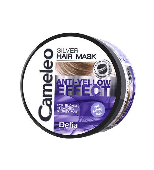Masca nuantatoare argintie Delia Cameleo pentru par blond si gri, cu efect anti-galben, 200 ml-big