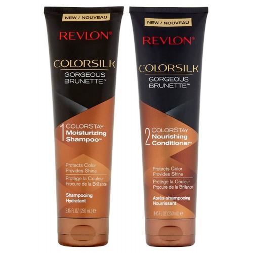 Pachet Sampon si Balsam pentru parul brunet REVLON Colorsilk Gorgeous Brunette, 2 x 250 ml-big