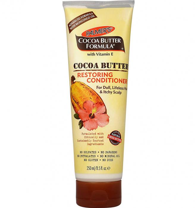 Balsam reparator intensiv pentru scalp sensibil si par tern, degradat, cu Unt de Cacao PALMER'S Cocoa Butter Formula, Vitamina E, 250 ml-big