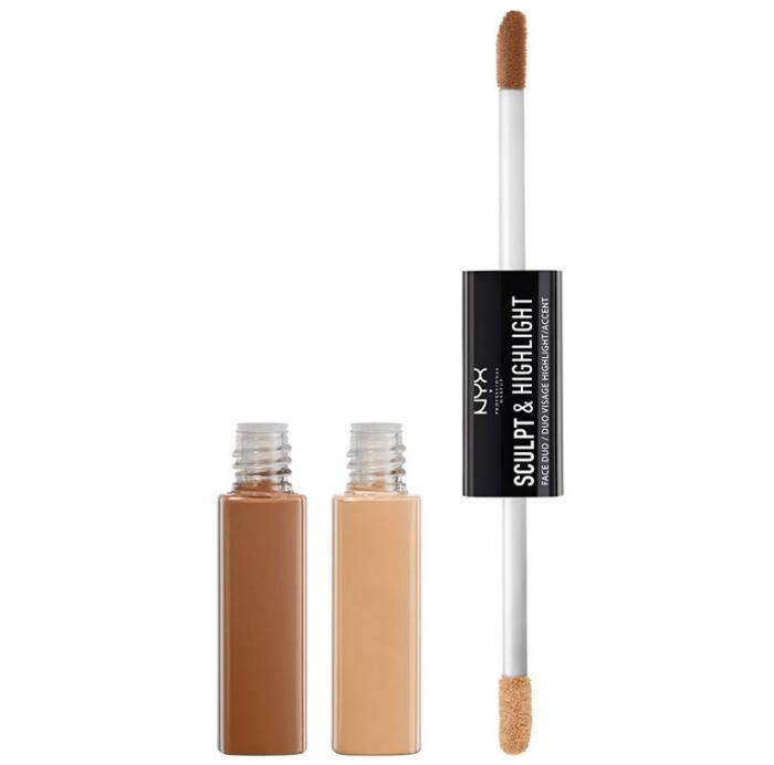 Contur ten NYX Professional Makeup Sculpt & Highlight Face Duo, Almond Light, 2 x 5.3 ml-big