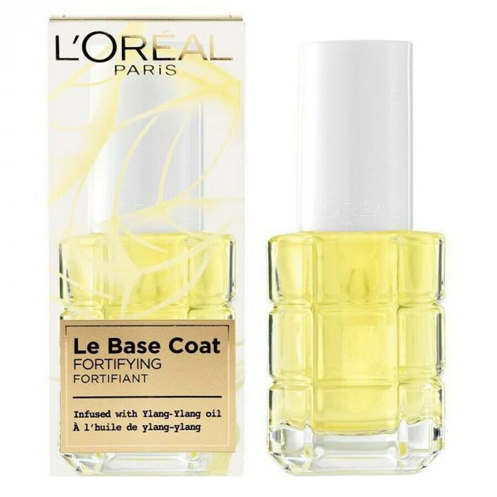 Baza tratament pentru fortifierea unghiilor L'Oreal Paris Le Base Coat cu ulei de Ylang-Ylang, 13.5 ml-big
