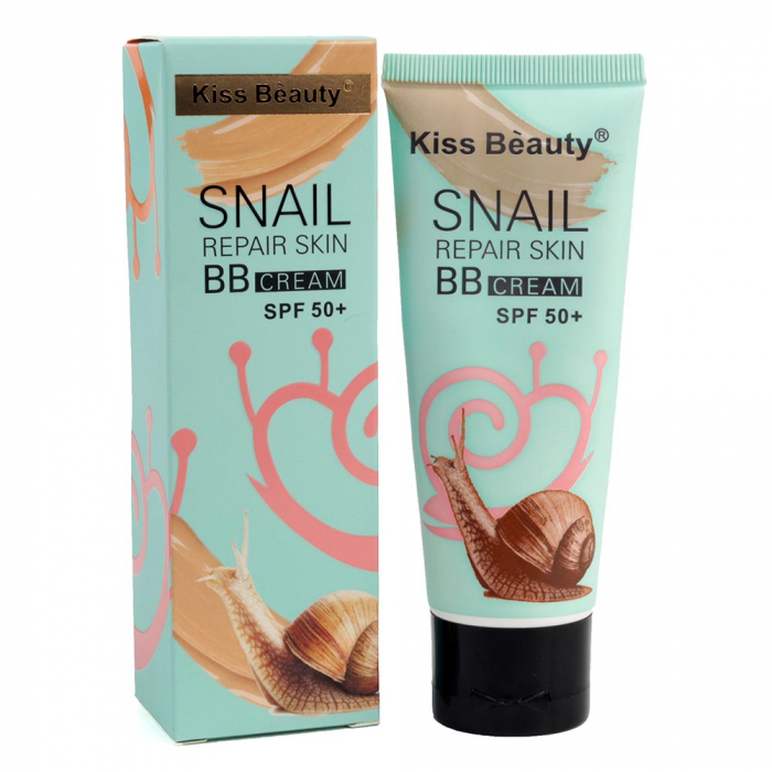 BB Cream cu extract de melc Kiss Beauty Snail REPAIR Skin, factor de protectie SPF 50+, 60 ml-big
