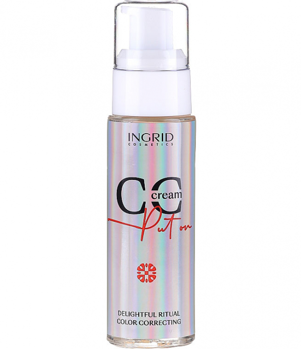 CC Cream Ingrid Put On Delightful Ritual Color Correcting, 01 Porcelain, 30 ml-big
