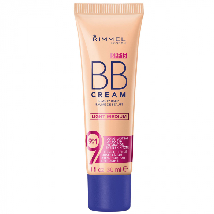 BB Cream Rimmel London 9 In 1, SPF15, Light Medium, 30 ml-big