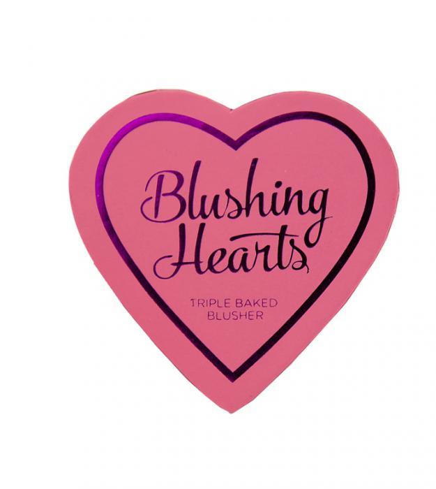 Blush Iluminator Makeup Revolution I Heart Makeup Blushing Hearts - Peachy Keen, 10g-big