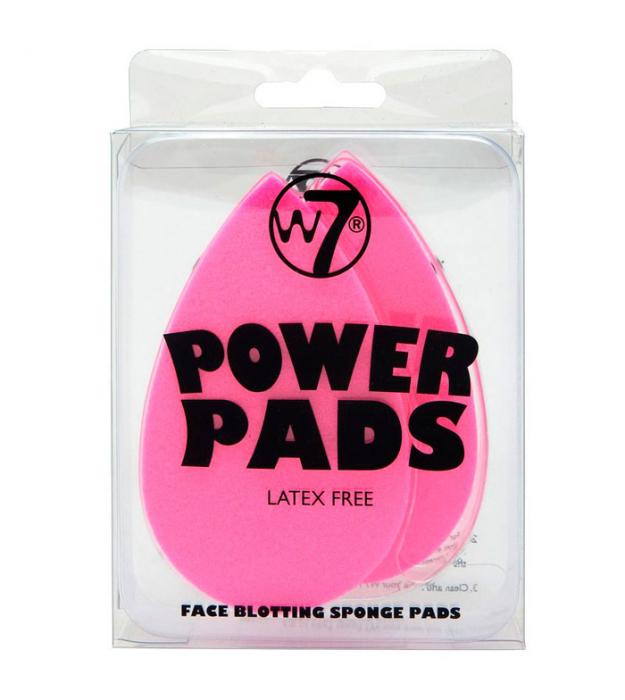 Set 2 bureti pentru indepartarea excesului de ulei de pe ten W7 Power Pads Face Blotting Sponge Pads, fara latex-big