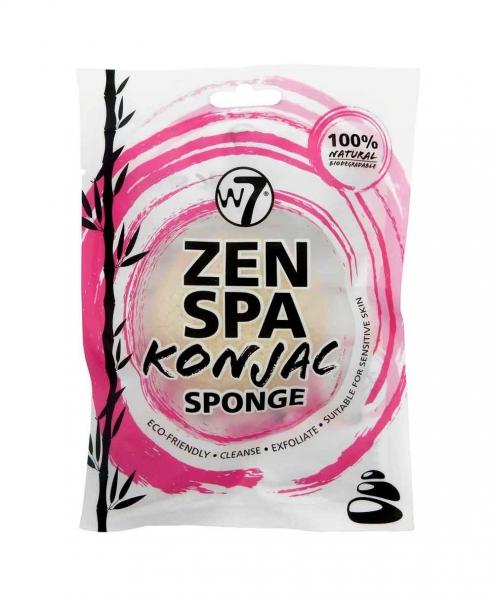 Burete Pentru Exfolierea Fetei W7 Zen Spa Konjac Sponge - White-big