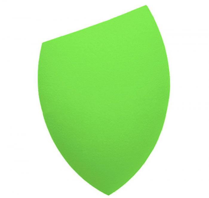 Burete Profesional Lacrima pentru Machiaj, Perfect Blending Cut Teardrop, Light Green-big