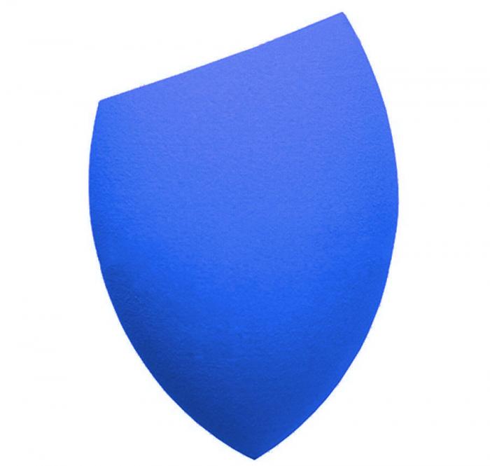 Burete Profesional Lacrima pentru Machiaj, Perfect Blending Cut Teardrop, Blue-big