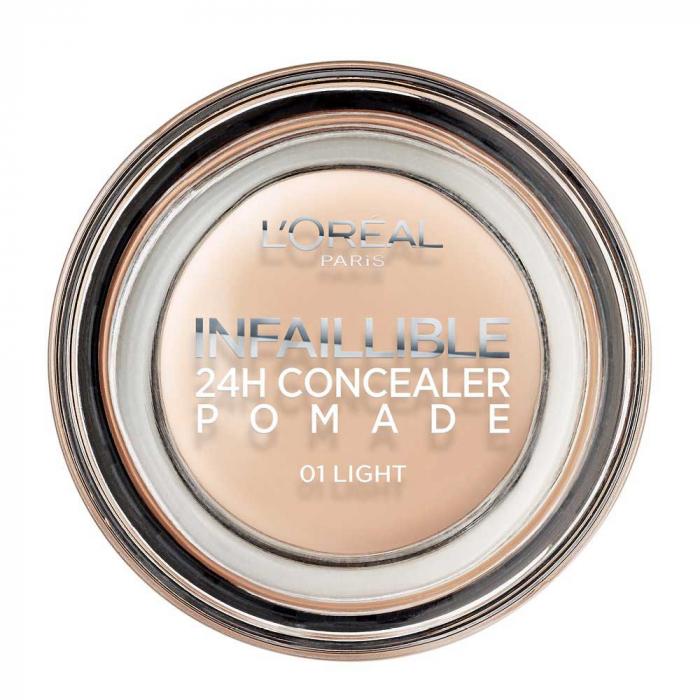 Corector L'Oreal Paris Infallible 24Hr Concealer Pomade, 01 Light, 15 g-big