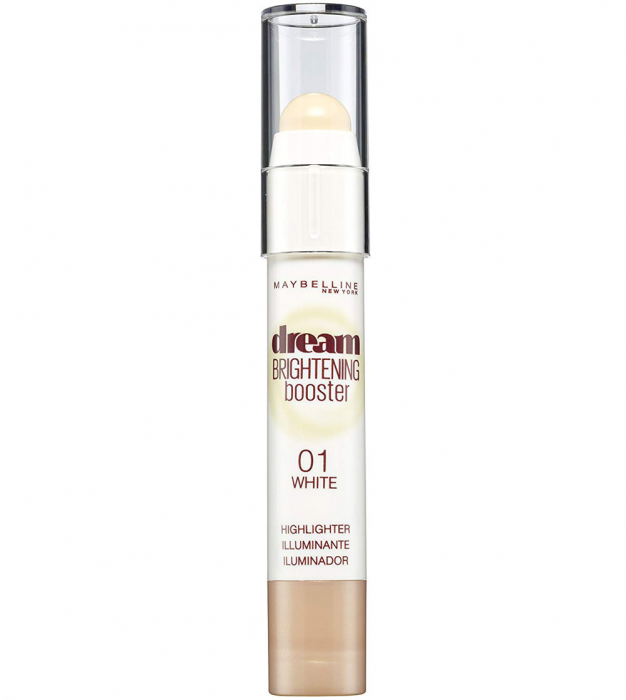 Creion Corector Maybelline New York Dream Brightening Booster Highlighter, 01 White, 3 g-big