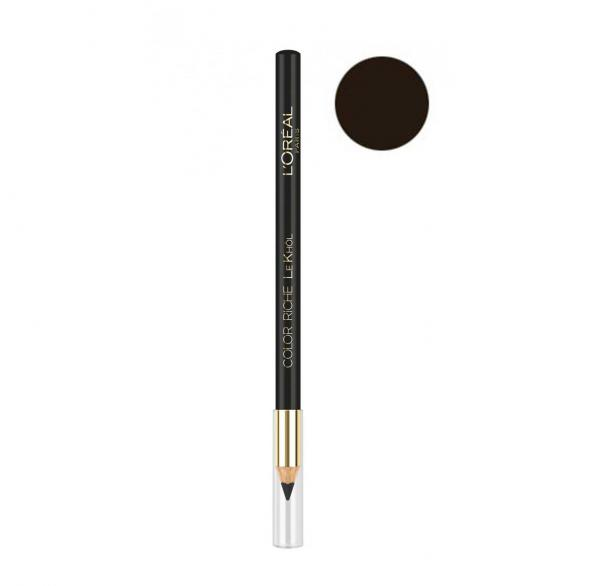 Creion de ochi L'Oreal Paris Color Riche Le Khol, 101 Midnight BLACK-big