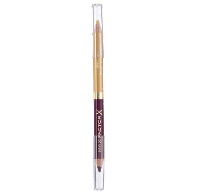 Creion de Ochi Max Factor Eyefinity Smoky Eye Pencil, 03 Royal Violet & Crushed Gold-big