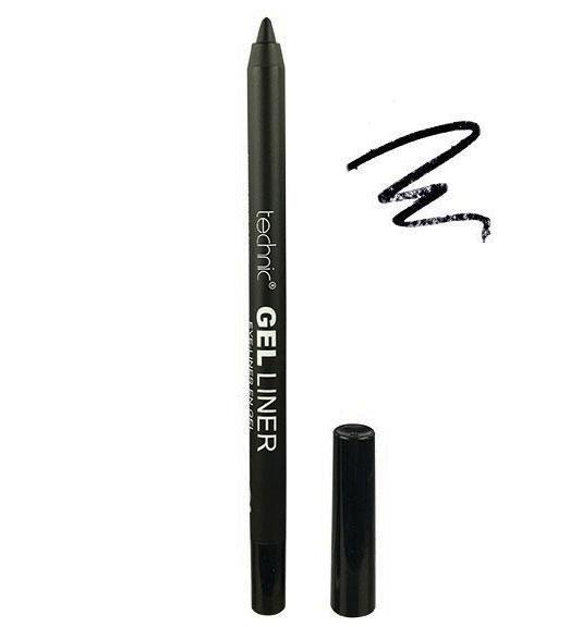 Creion de ochi rezistent la transfer Technic Gel Liner, Waterproof, Negru, 1.5 g-big