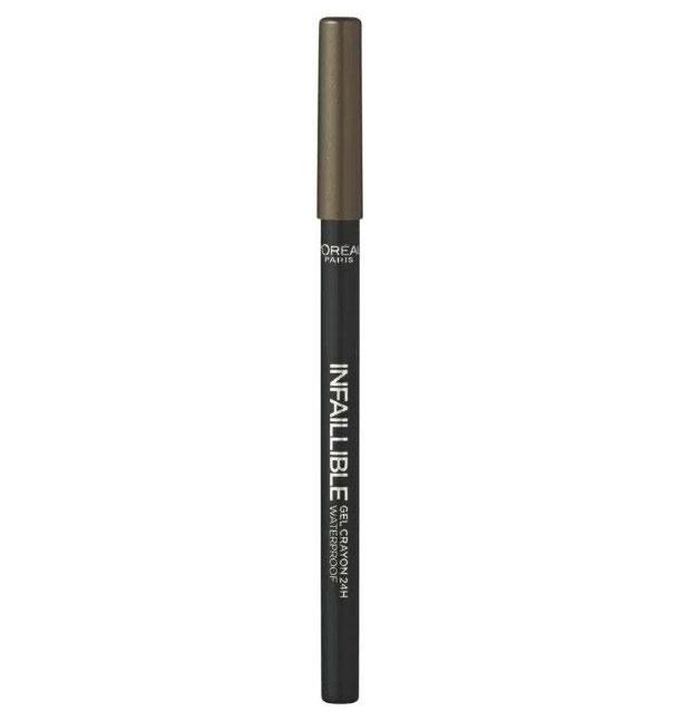 Creion de ochi rezistent la transfer L'Oreal Paris Infaillible Gel Crayon Waterproof 24H, 08 Rest in Kaki-big
