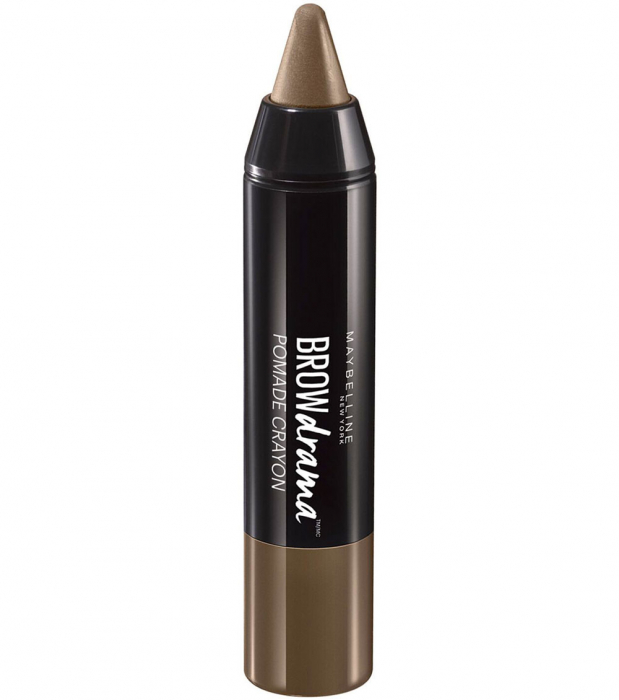 Creion pentru sprancene Maybelline New York BROW Drama Pomade Crayon, Medium Brown-big