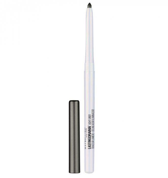 Creion Iluminator MAYBELLINE New York Master Drama Lightliner, 45 Spacelight Black-big