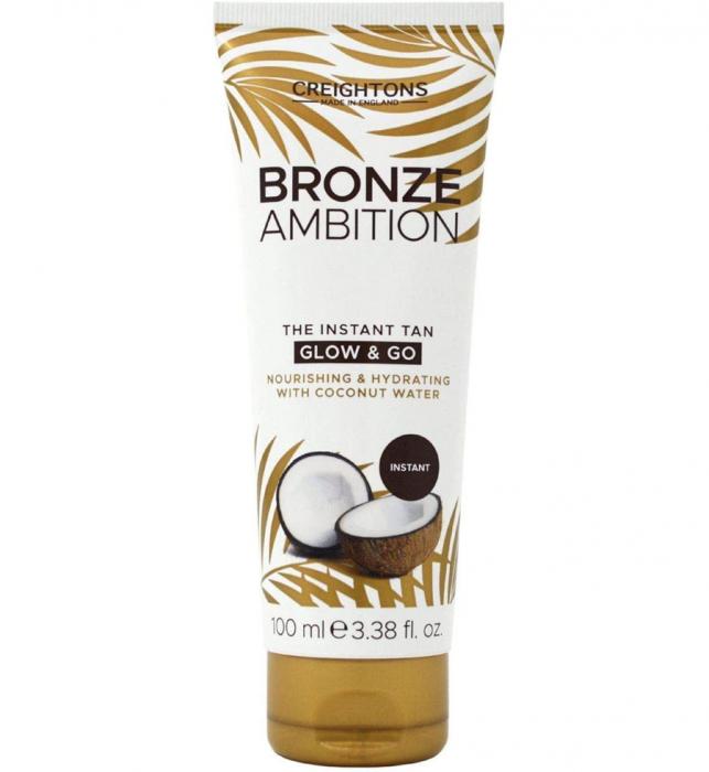 Crema Autobronzanta Pentru Bronz Instant CREIGHTONS Bronze Ambition Glow & Go cu Apa de Cocos, 100 ml-big