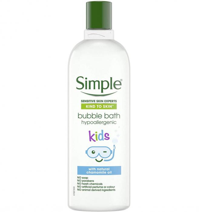 Crema de Baie cu Ulei Natural de Musetel pentru copii, Simple Bubble Bath hypoallergenic, 400 ml-big