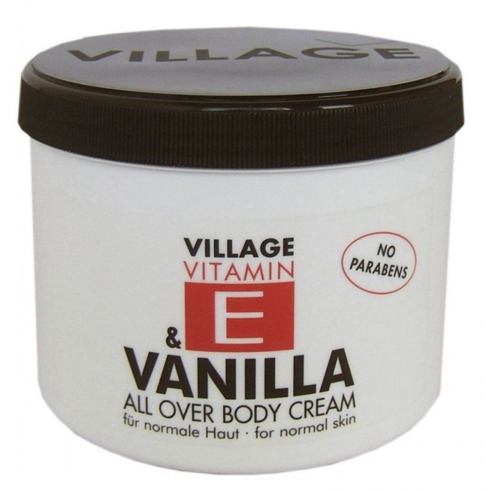 Crema De Corp VILLAGE COSMETICS Cu Vitamina E Si Vanilie, 500 ml-big