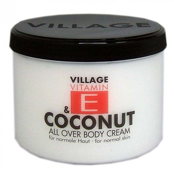 Crema De Corp VILLAGE COSMETICS Cu Vitamina E Si Cocos, 500 ml-big