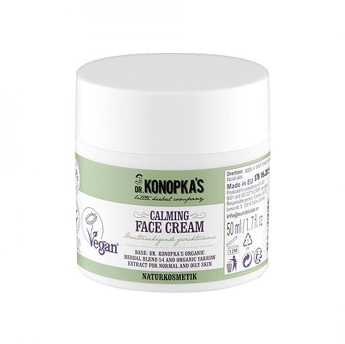Crema de fata calmanta cu extract organic de coada-soricelului, DR. KONOPKA'S, Ingrediente 98.9% Naturale, 50 ml-big