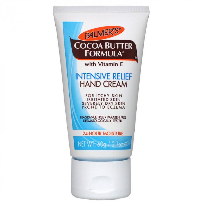 Crema de maini intens hidratanta cu Unt de Cacao, PALMER'S Cocoa Butter Formula, Intensive Relief, Vitamina E, 60 g-big