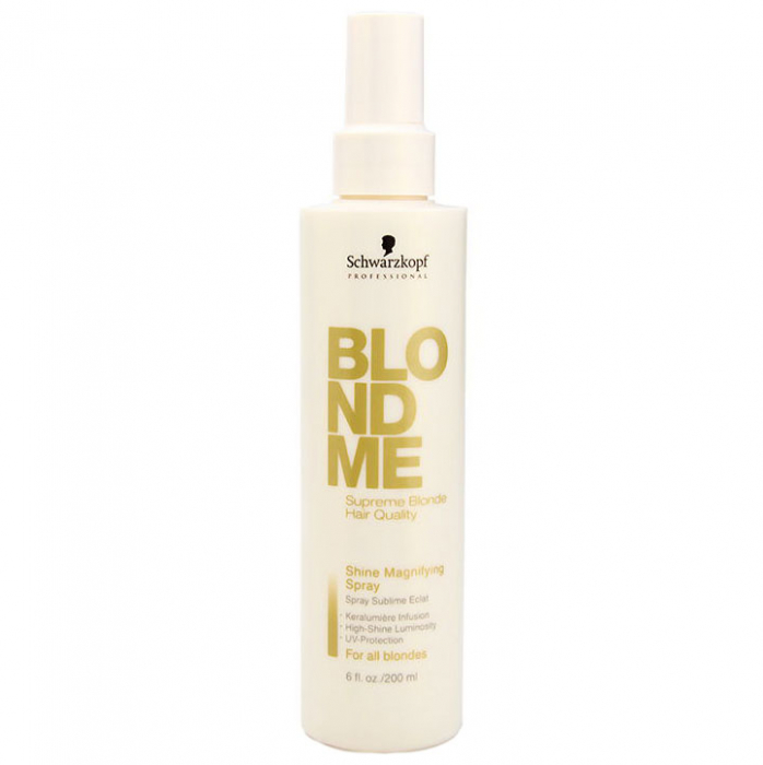 Spray leave-in pentru stralucirea parului blond Schwarzkopf Professional BlondMe Shine Magnifying Spray, 200 ml-big