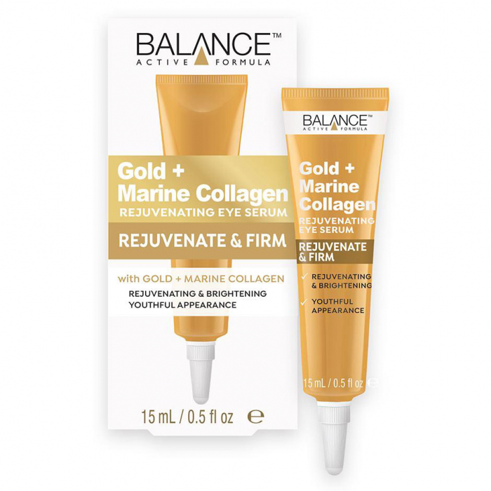 Crema pentru ochi cu Aur si Colagen Marin BALANCE ACTIVE Rejuvenating & Firm, 15 ml-big