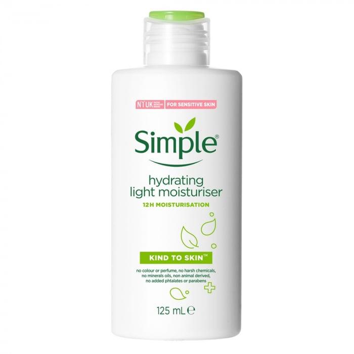 Crema reparatoare pentru ten sensibil cu ProVitamina B5, Vitamina E si Glicerina, Simple Kind to Skin Hydrating Light Moisturiser, 125 ml-big
