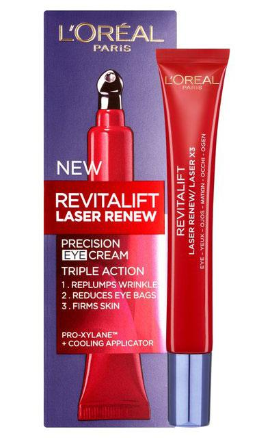 Crema contur ochi anti-rid L'Oreal Paris Revitalift LASER RENEW, cu Acid Hyaluronic, 15 ml-big