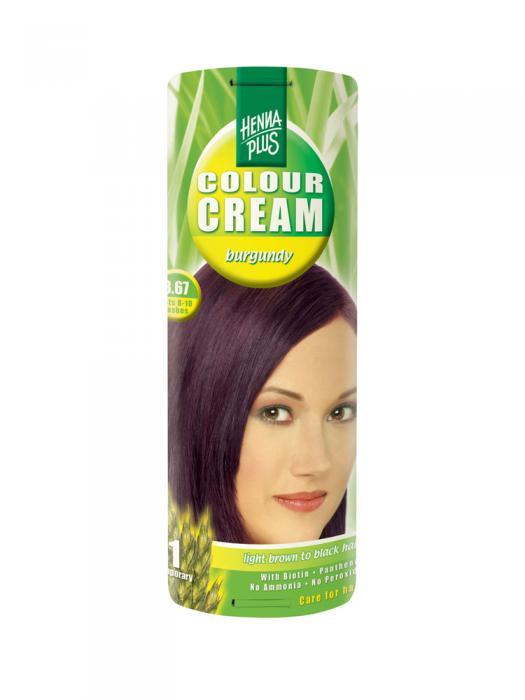 Crema Nuantatoare de Par HennaPlus Colour Cream - Burgundy 3.67-big
