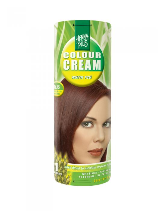 Crema Nuantatoare de Par HennaPlus Colour Cream - Warm Red 5.6-big