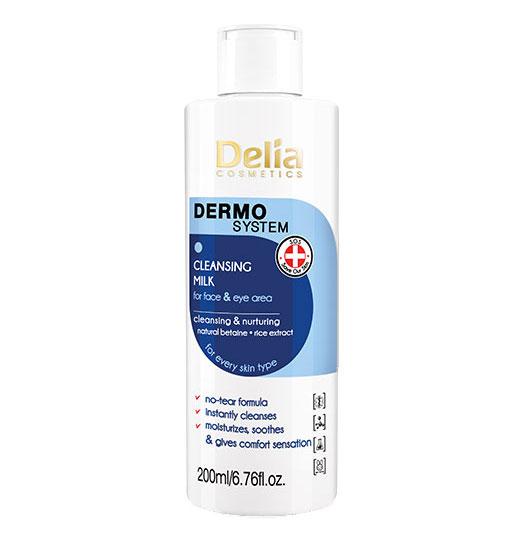 Lapte demachiant Delia Cosmetics Dermo System Cleansing Milk, 200 ml-big