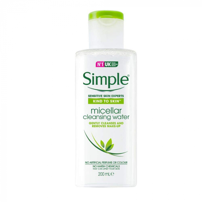 Apa micelara pentru tenul sensibil Simple Kind To Skin Micellar Cleansing Water, 200 ml-big