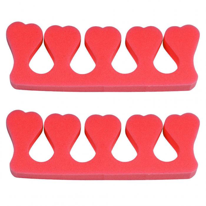 Despartitor degete pentru pedichiura, Coral-big