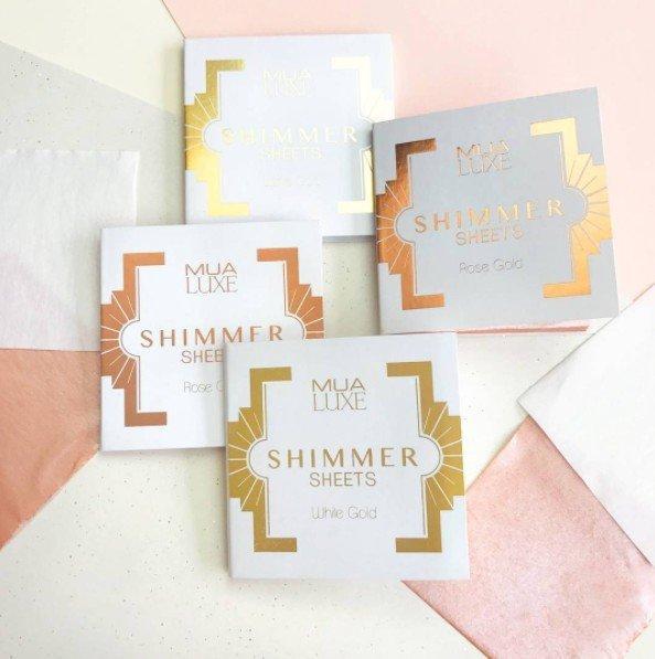 Foite iluminatoare Luxe Shimmer Sheet MUA Makeup Academy Professional - White Gold-big