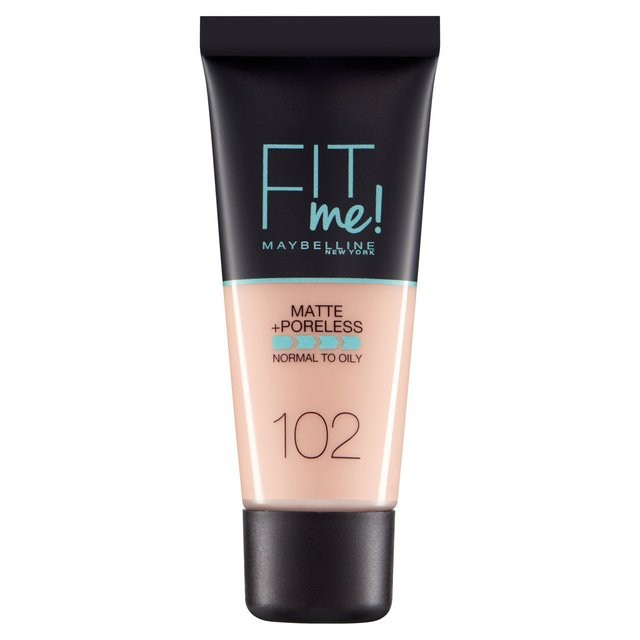 Fond de ten MAYBELLINE FIT ME Matte & Poreless 102 Ivory, 30 ml-big