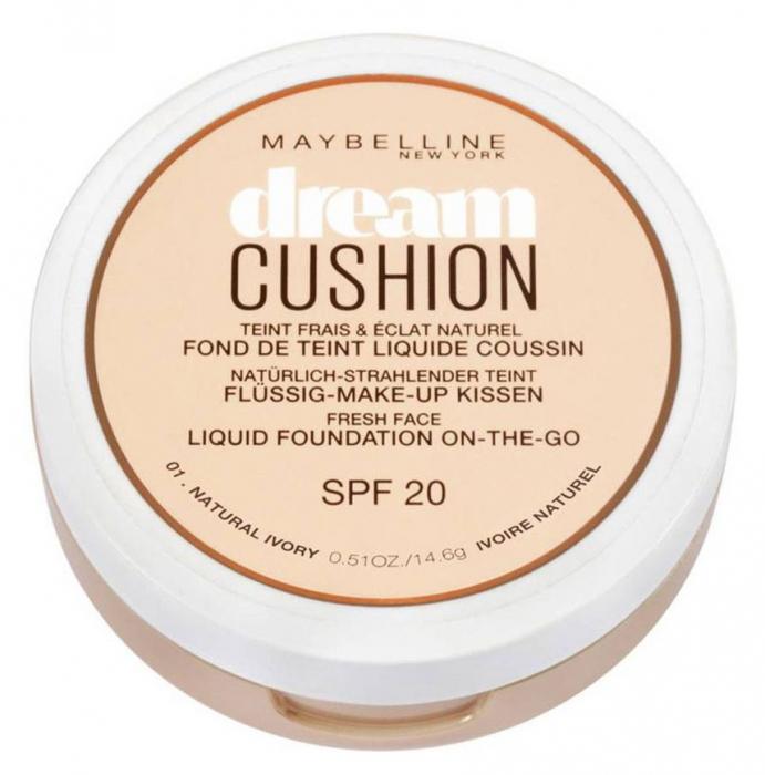 Fond de ten Maybelline Dream Cushion Liquid Foundation, 01 Natural Ivory, 14.6 g-big