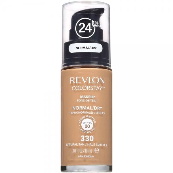 Fond De Ten Revlon Colorstay Normal / Dry Skin Cu Pompita - 330 Natural Tan, 30ml-big