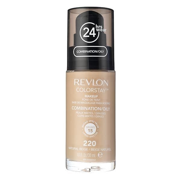 Fond De Ten Revlon Colorstay Oily Skin Cu Pompita - 220 Natural Beige, 30ml-big